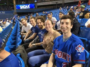 WilsonLabbers enjoy a Jays' game at the SkyDome.