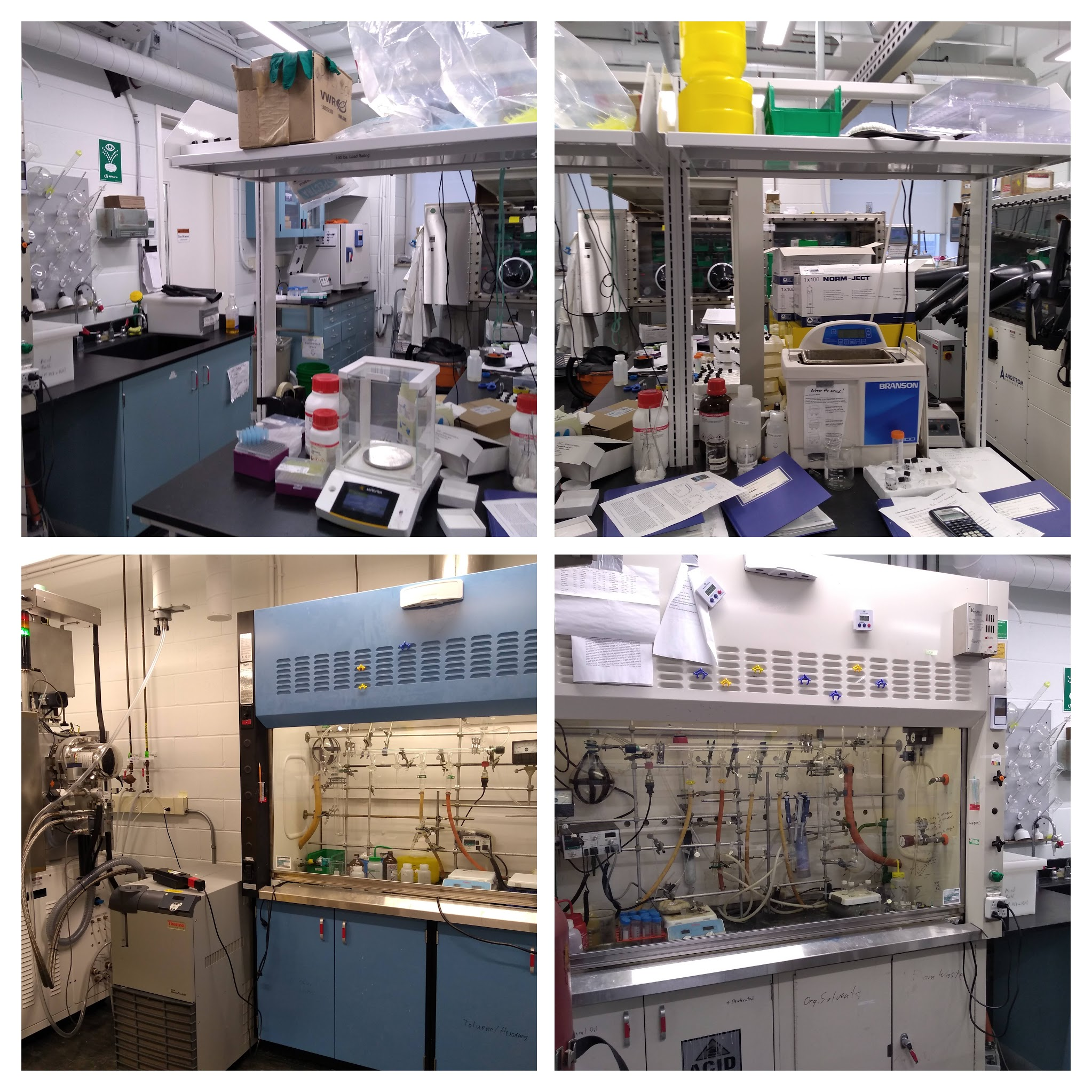 All squared away for shut-down in the synthesis/fabrication room WilsonLab